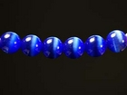 Fiber Optic Beads 4mm round royal blue
