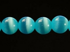 Fiber Optic Beads 6mm round turquoise