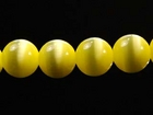 Fiber Optic Beads 6mm round yellow