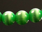 Fiber Optic Beads 8mm round kelly green
