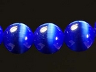 Fiber Optic Beads 8mm round royal blue