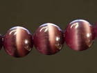 Fiber Optic Beads 8mm round dark purple