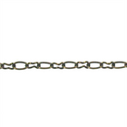 antique brass base metal cable Chain 3mm wide