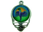 Metal Charms steal your face with fimo hummingbird antique silver 27 x 18mm