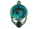 Metal Charms steal your face with fimo dolphin antique silver 27 x 18mm