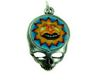 Charms steal your face with fimo grinning sun antique silver 27 x 18mm
