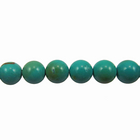 Turquoise 4mm round blue green (Chinese)