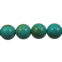 Turquoise 6mm round blue green (Chinese)