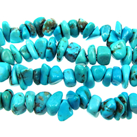 Turquoise 5 x 7mm chip rich blue with matrix (Chinese)