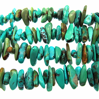 Turquoise 6 x 8mm chip blue green (Chinese)