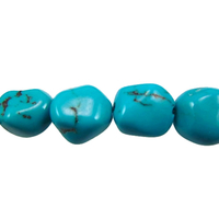 Turquoise 9 x 10mm nugget rich blue (Chinese)