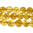 citrine 11-12mm coin rich golden yellow