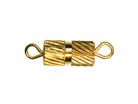 base metal fancy screw clasp gold finish