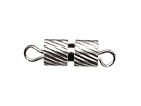 Image base metal fancy screw clasp silver finish