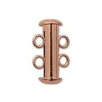 Image base metal 16mm 2 strand slider clasp copper plate