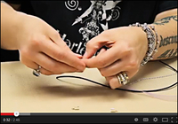 how to attach a clasp with cord ends video