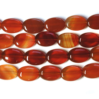 Carnelian Agate 10 x 14mm oval deep orange