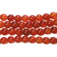 Image Carnelian Agate 6mm round deep orange
