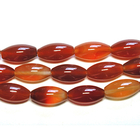 Carnelian Agate 8 x 16mm large oval deep orange