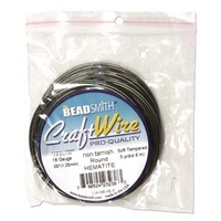 Craft Wire 16 gauge round hematite
