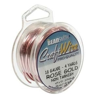 Craft Wire 18 gauge round rose gold