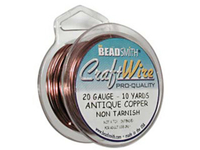 Craft Wire 20 gauge round antique copper