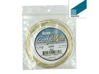 Image Craft Wire 21 gauge square gold