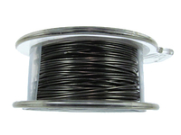 Craft Wire 22 gauge round gunmetal (hematite)