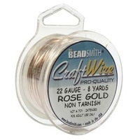 Craft Wire 22 gauge round rose gold