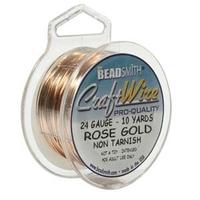 Craft Wire 24 gauge round rose gold