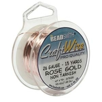 Craft Wire 26 gauge round rose gold