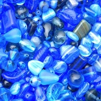 Dark Blue Czech Bead Mix