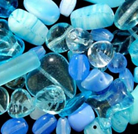 Light Blue Czech Bead Mix