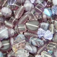 Image Light Purple Czech Bead Mix