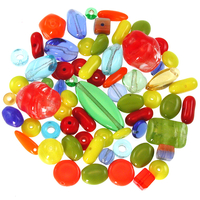 Summer Czech Pressed Glass Bead Mix - Assorted Sizes, Shapes and Colors