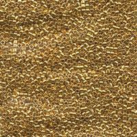 Image Seed Beads Miyuki delica size 11 24k gold plated metallic