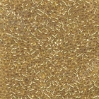 Seed Beads Miyuki delica size 11 crystal w/24k gold color lined