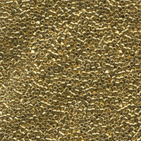 Seed Beads Miyuki delica size 11 24k light gold plated metallic