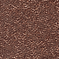 Image Seed Beads Miyuki delica size 11 bright copper plated metallic