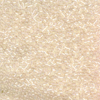 Seed Beads Miyuki delica size 11 pale peach lined crystal ab transparent iridescent