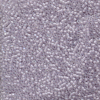 Image Seed Beads Miyuki delica size 11 pale violet lined crystal ab transparent irides