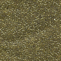 Seed Beads Miyuki delica size 11 golden olive transparent luster