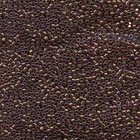 Seed Beads Miyuki delica size 11 bronzy pink ab transparent iridescent