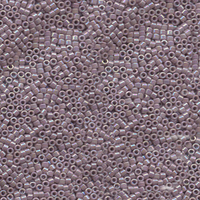 Seed Beads Miyuki delica size 11 mauve ab opaque iridescent