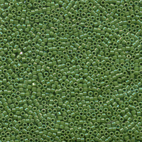 Image Seed Beads Miyuki delica size 11 green ab opaque iridescent