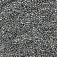 Image Seed Beads Miyuki delica size 11 grey ab opaque iridescent