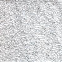 Image Seed Beads Miyuki delica size 11 white pearl ceylon