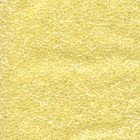 Image Seed Beads Miyuki delica size 11 pastel yellow ceylon