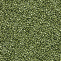 Image Seed Beads Miyuki delica size 11 cactus green opaque luster