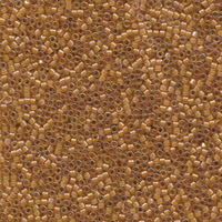 Seed Beads Miyuki delica size 11 light amber w/amber ab color lined